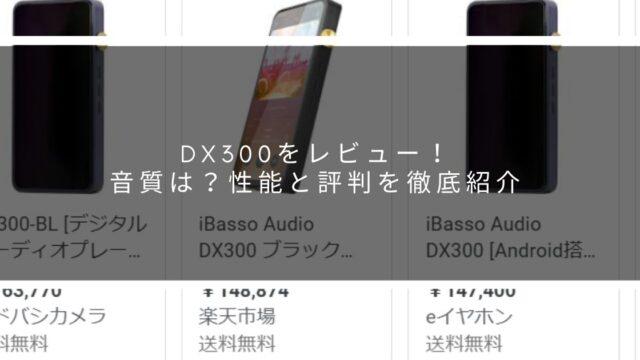 DX300をレビュー!音質は?性能と評判を徹底紹介