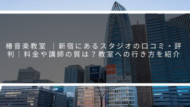 椿音楽教室 |新宿にあるスタジオの口コミ・評判|料金や講師の質は?教室への行き方を紹介